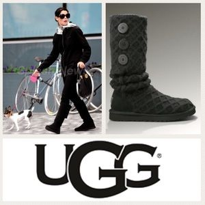 NEW!  UGG Australia Lattice Cardy boots in black 6